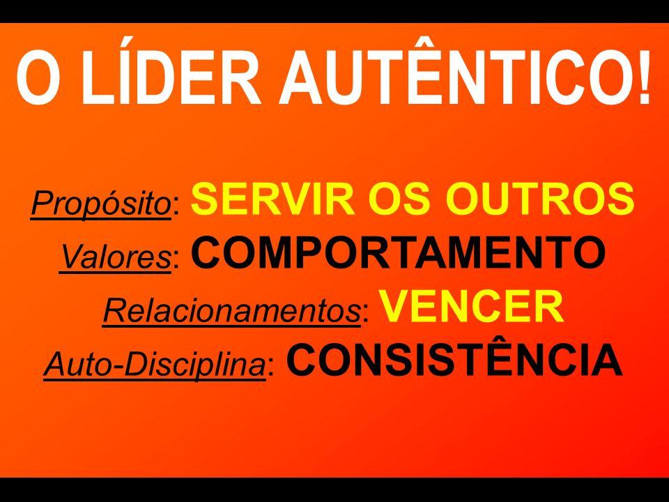 O LÍDER AUTÊNTICO! Propósito: SERVIR OS OUTROS Valores: COMPORTAMENTO