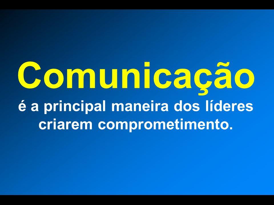 Comunicação é a principal maneira dos líderes criarem comprometimento.