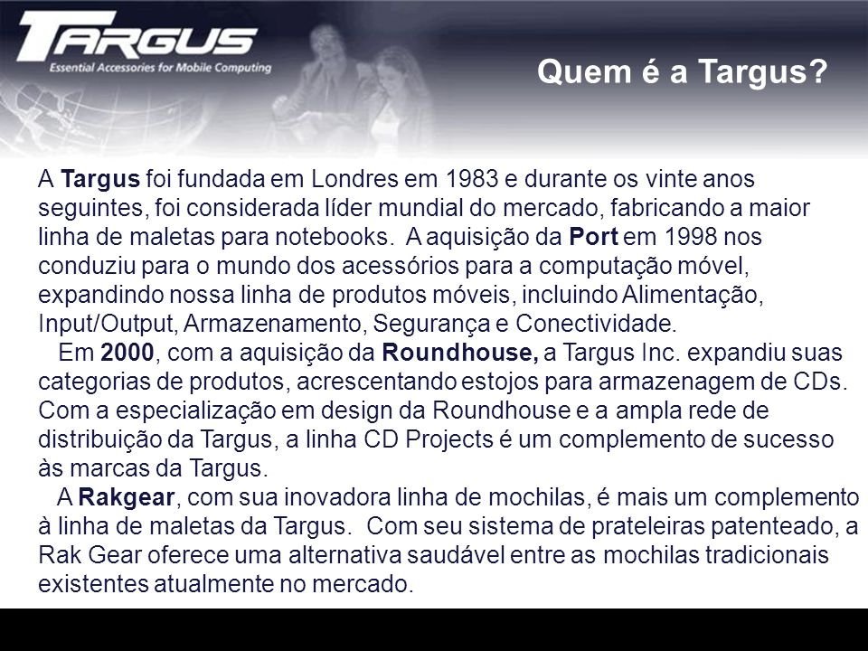 Quem é a Targus