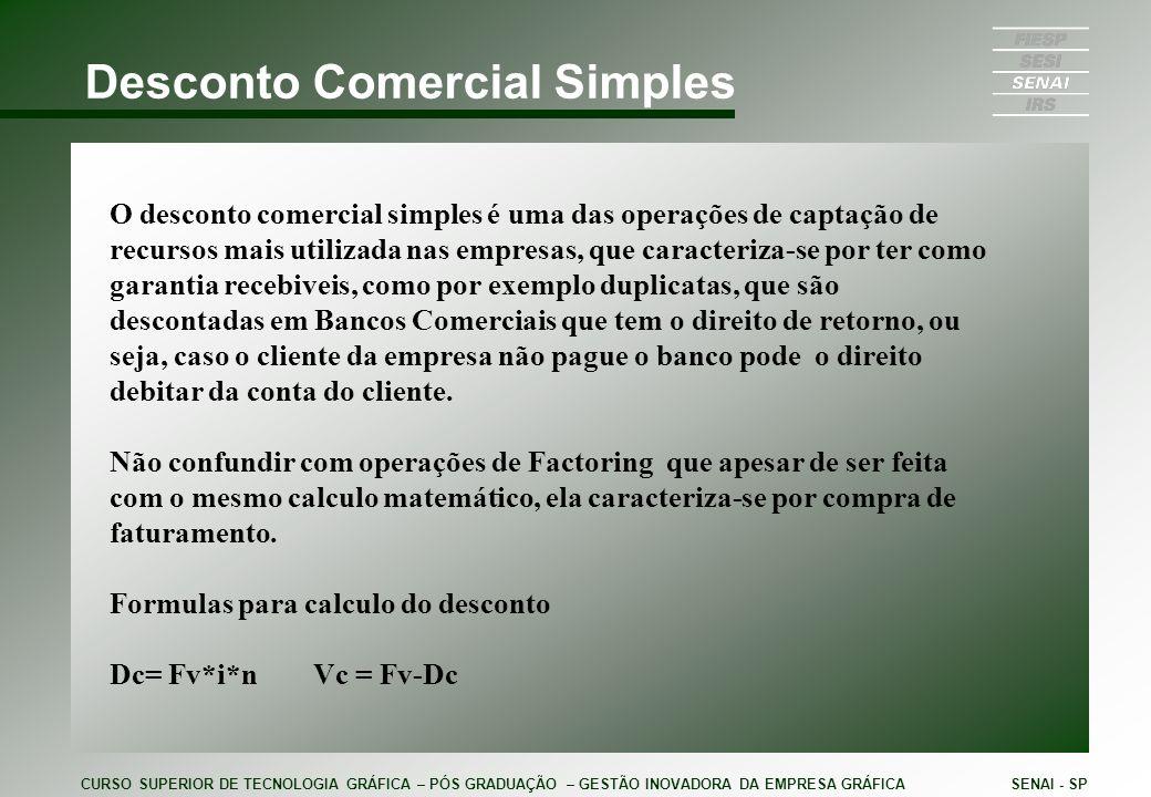 Desconto Comercial Simples
