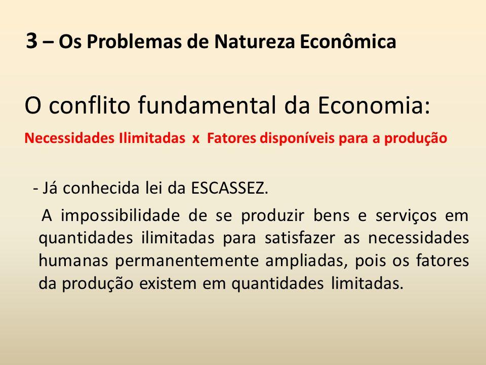 3 – Os Problemas de Natureza Econômica