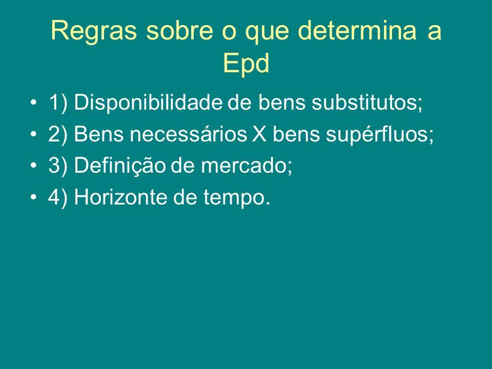 Regras sobre o que determina a Epd