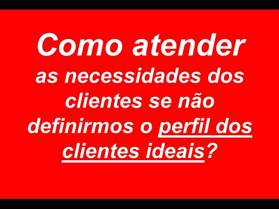 Como atender as necessidades dos clientes se não definirmos o perfil dos clientes ideais