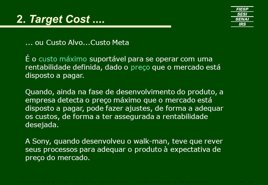 2. Target Cost .... ... ou Custo Alvo...Custo Meta