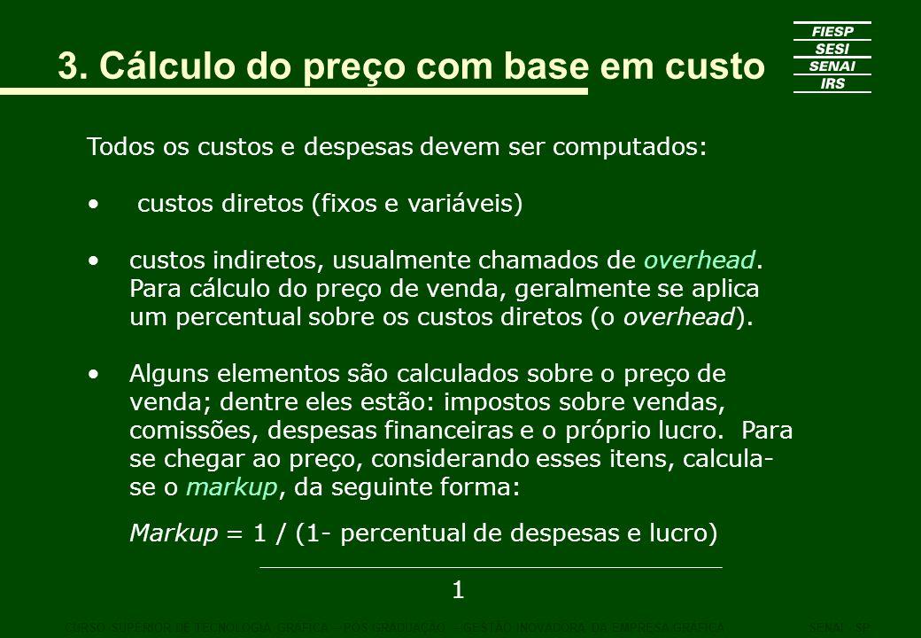 3. Cálculo do preço com base em custo