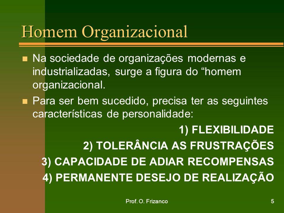 Homem Organizacional Na sociedade de organizações modernas e industrializadas, surge a figura do homem organizacional.