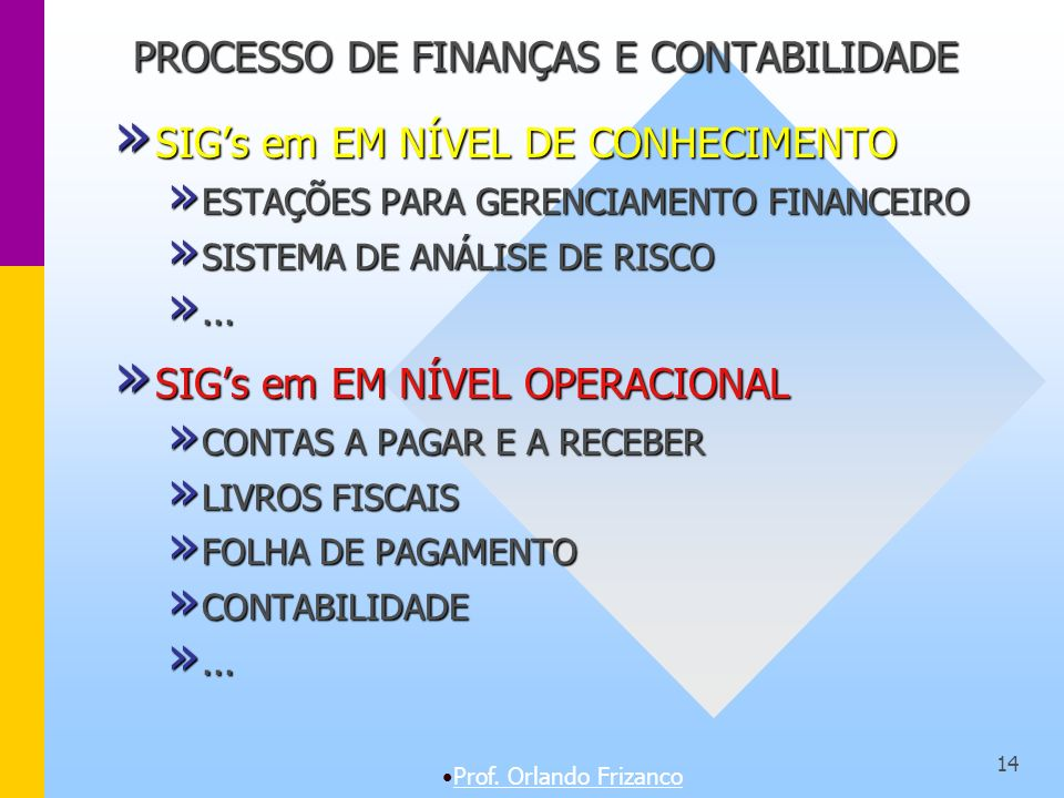 PROCESSO DE FINANÇAS E CONTABILIDADE