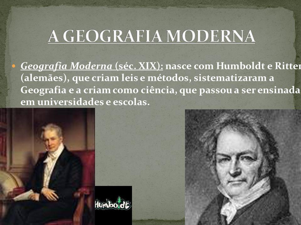 A GEOGRAFIA MODERNA