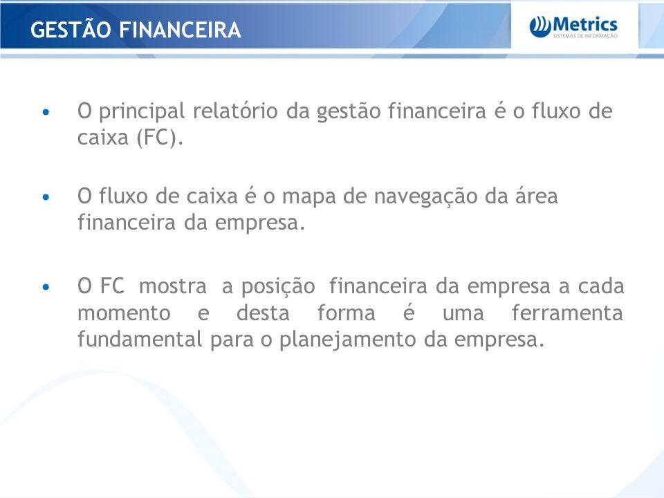 GESTÃO FINANCEIRA O principal relatório da gestão financeira é o fluxo de caixa (FC).