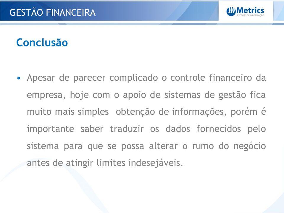 Conclusão GESTÃO FINANCEIRA