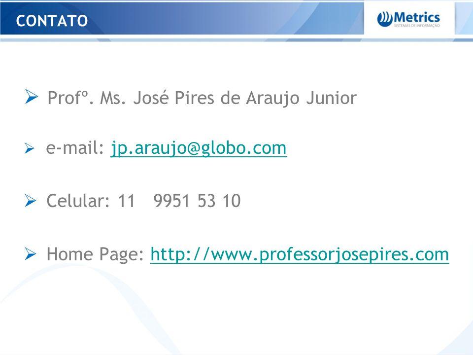 Profº. Ms. José Pires de Araujo Junior