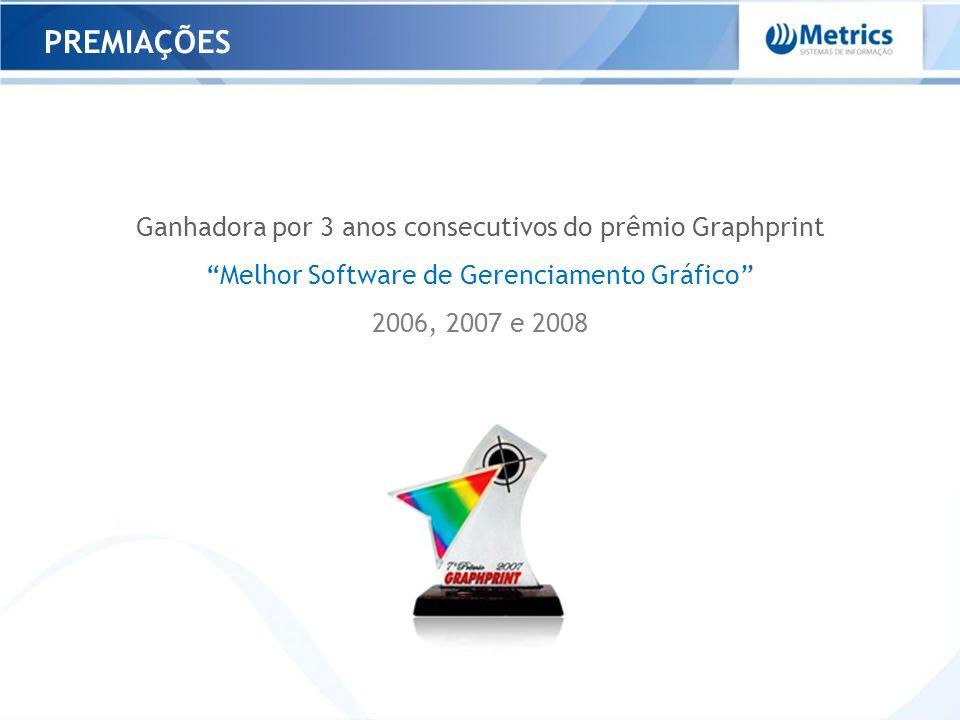 PREMIAÇÕES Ganhadora por 3 anos consecutivos do prêmio Graphprint