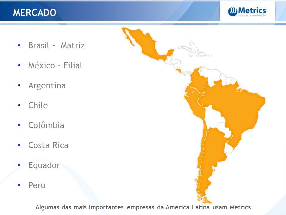 Algumas das mais importantes empresas da América Latina usam Metrics