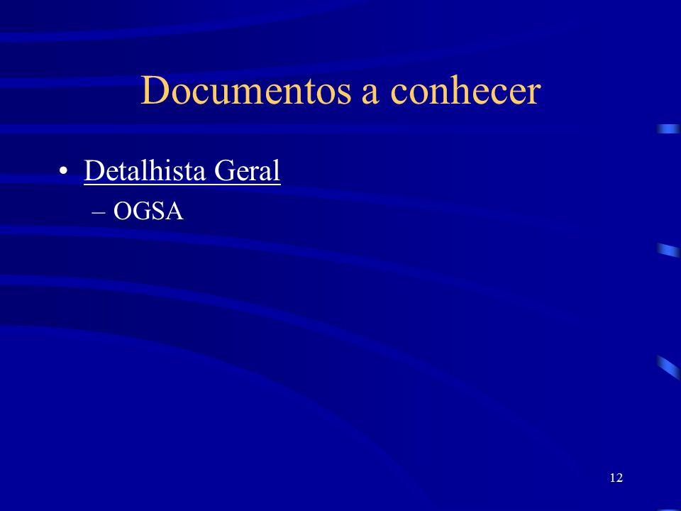 Documentos a conhecer Detalhista Geral OGSA
