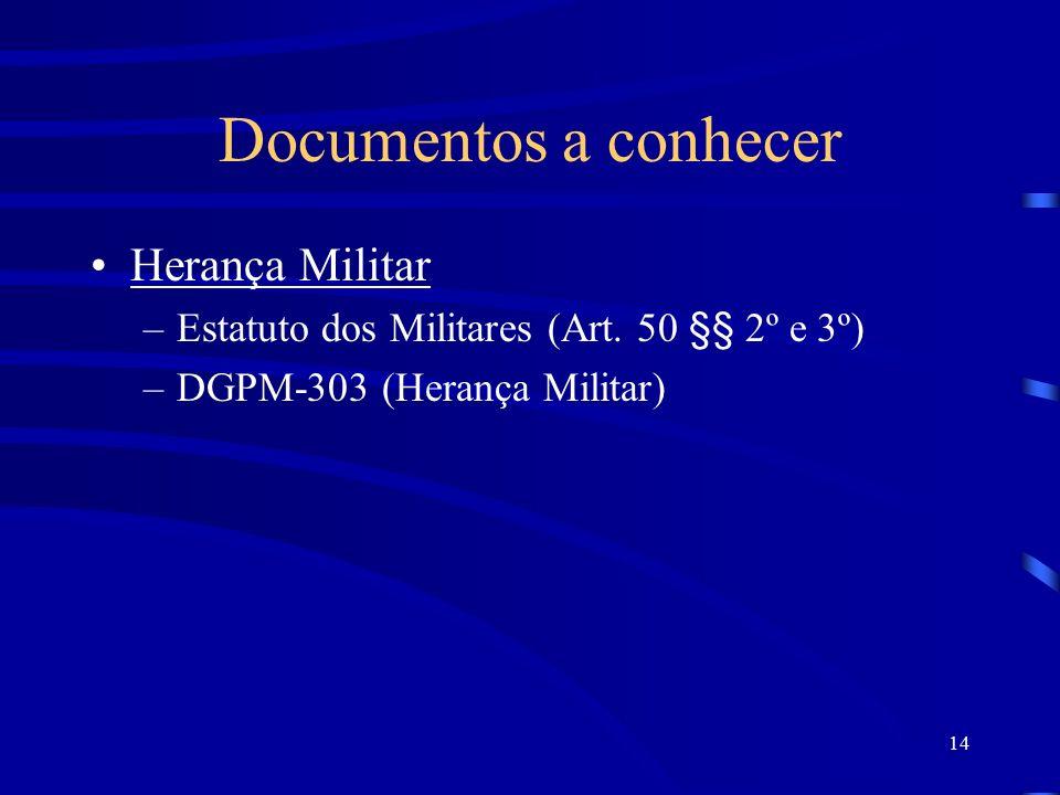 Documentos a conhecer Herança Militar