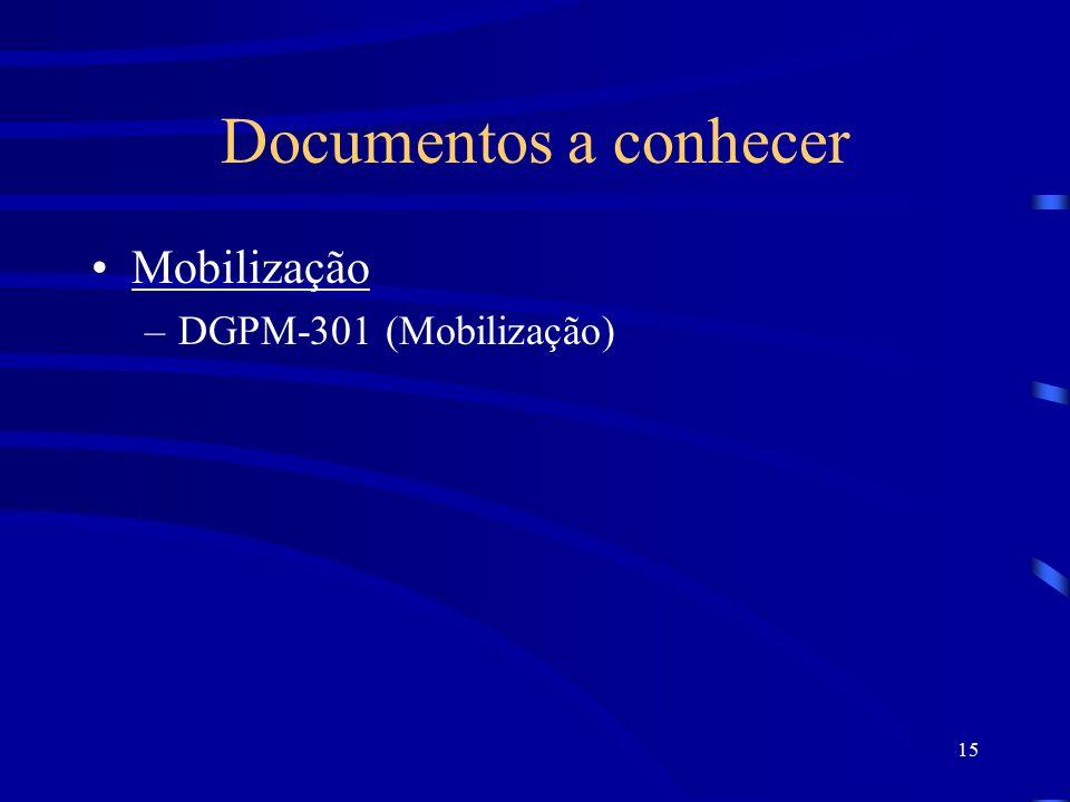 Documentos a conhecer Mobilização DGPM-301 (Mobilização)