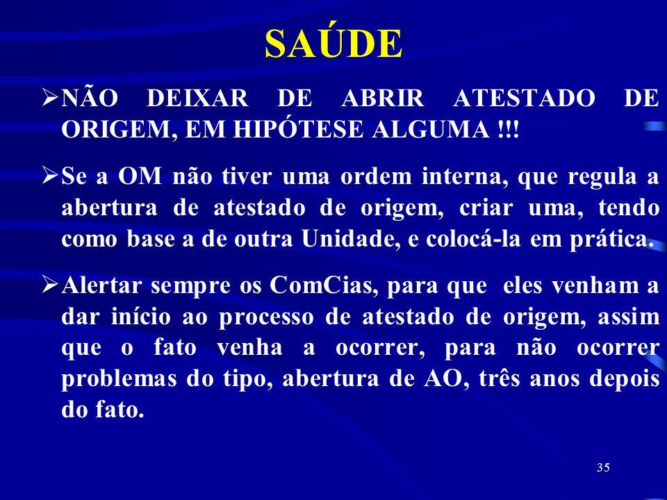 SAÚDE NÃO DEIXAR DE ABRIR ATESTADO DE ORIGEM, EM HIPÓTESE ALGUMA !!!