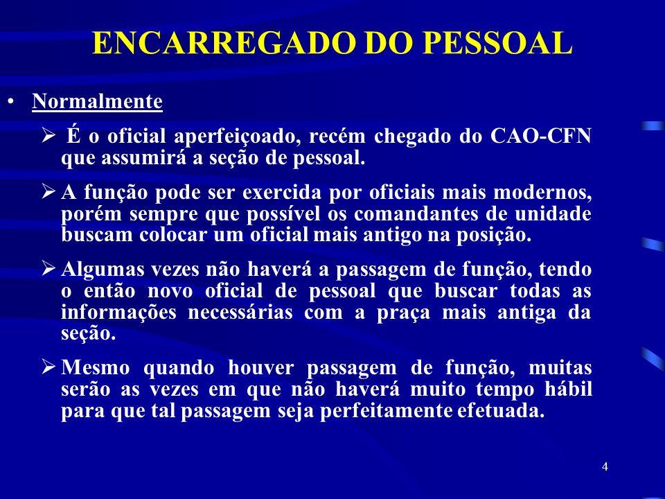 ENCARREGADO DO PESSOAL