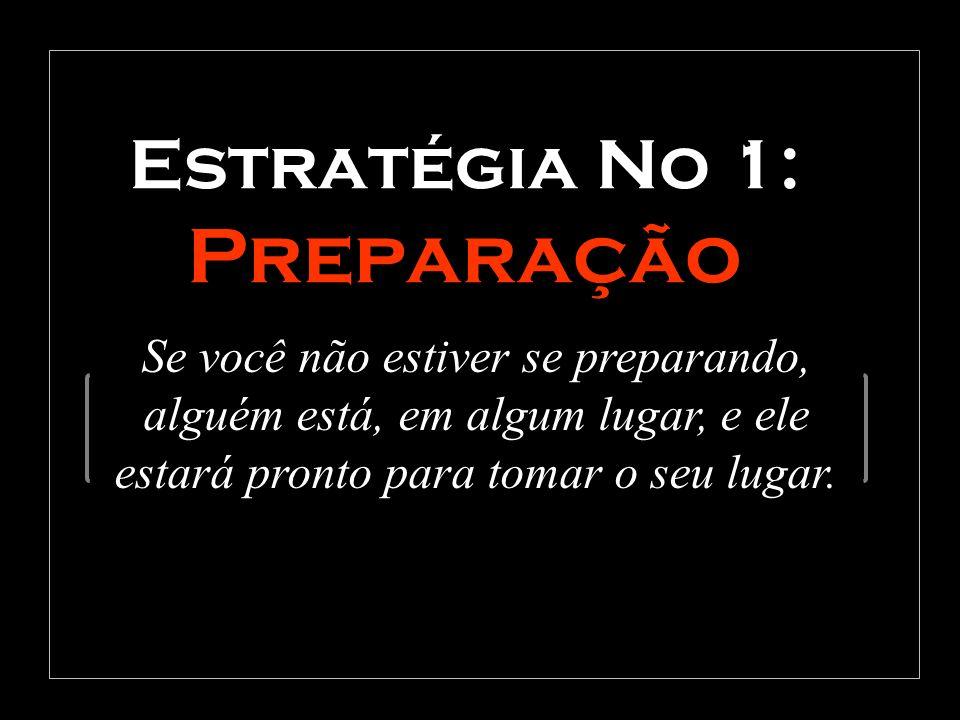 Estratégia No 1: Preparação