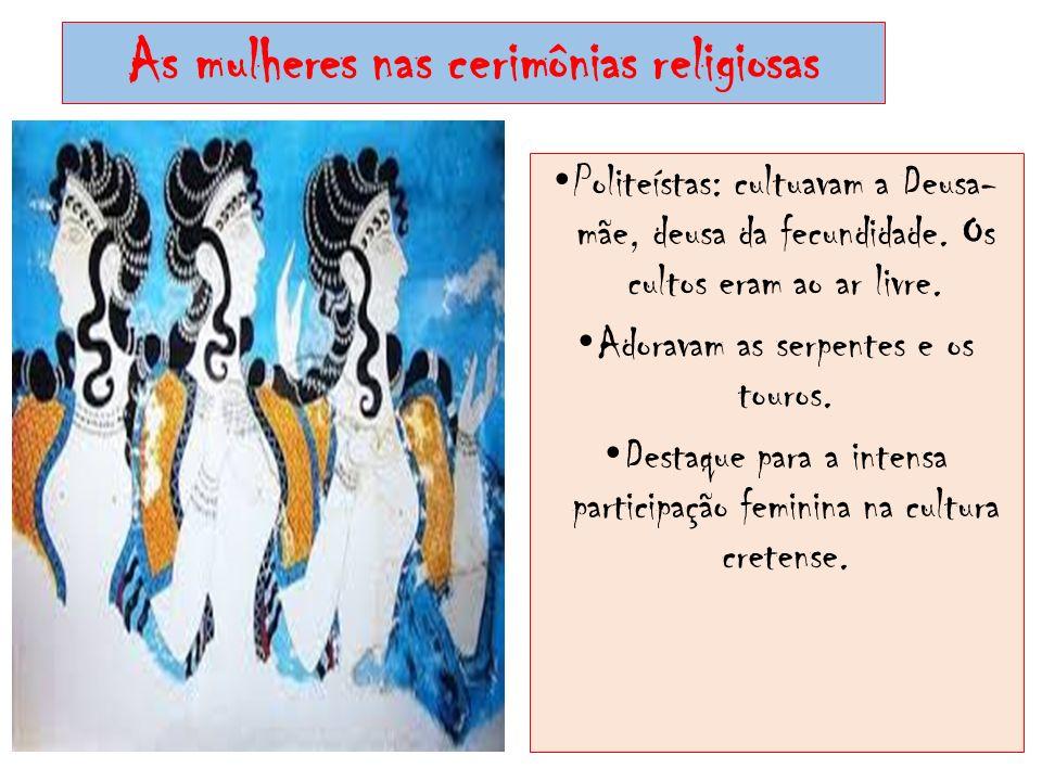 As mulheres nas cerimônias religiosas