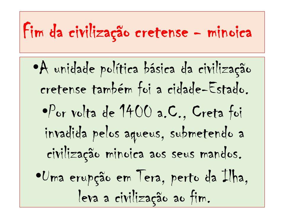 Fim da civilização cretense - minoica