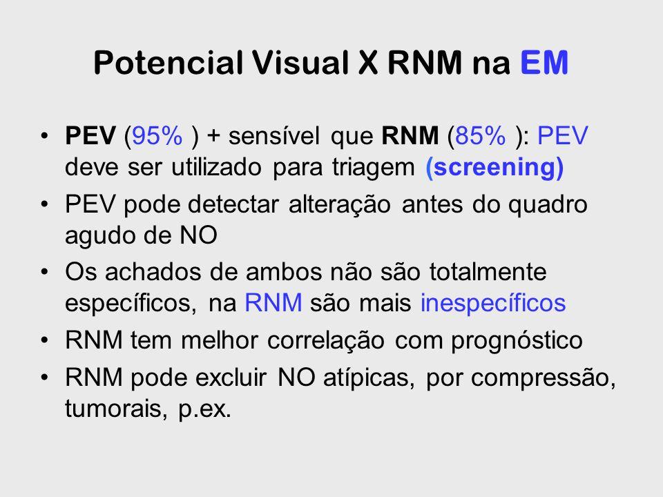 Potencial Visual X RNM na EM