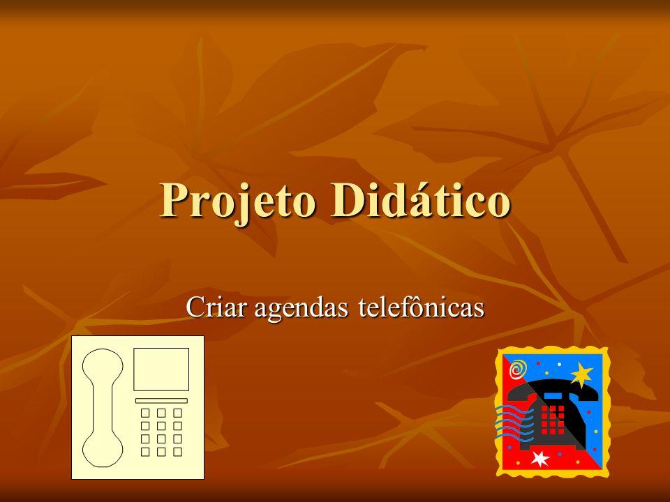 Criar agendas telefônicas