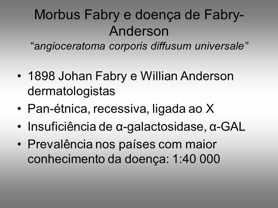 Morbus Fabry e doença de Fabry- Anderson angioceratoma corporis diffusum universale