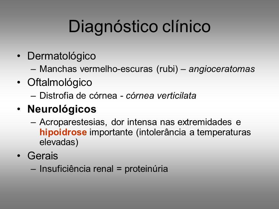 Diagnóstico clínico Dermatológico Oftalmológico Neurológicos Gerais