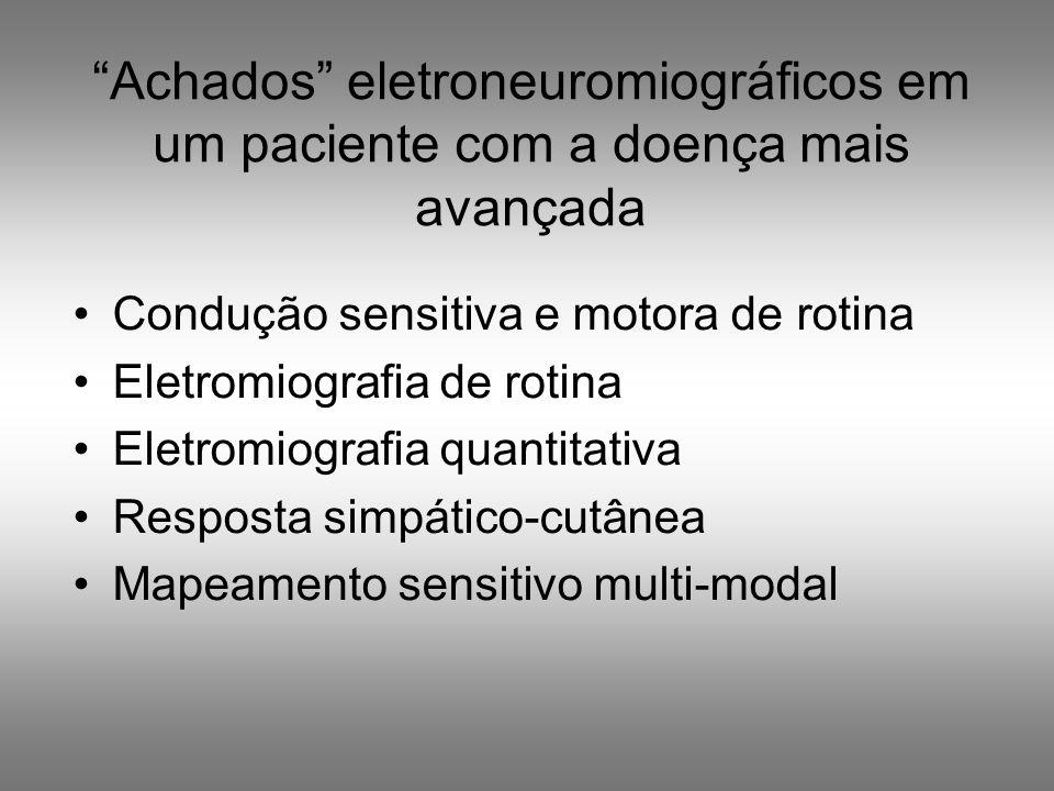 Achados eletroneuromiográficos em um paciente com a doença mais avançada