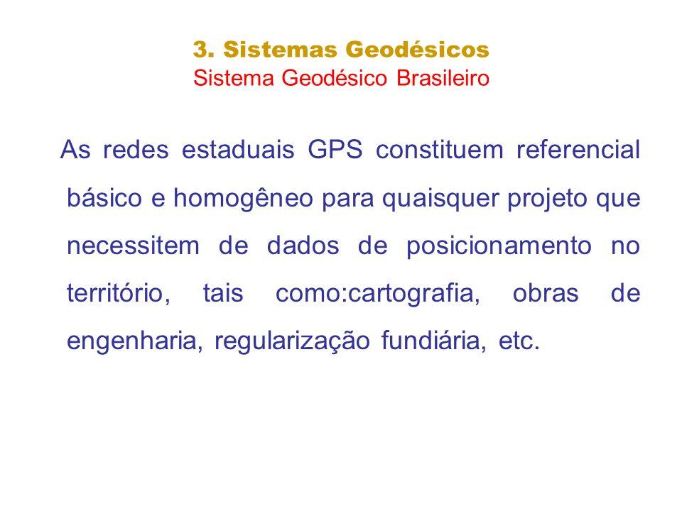 3. Sistemas Geodésicos Sistema Geodésico Brasileiro