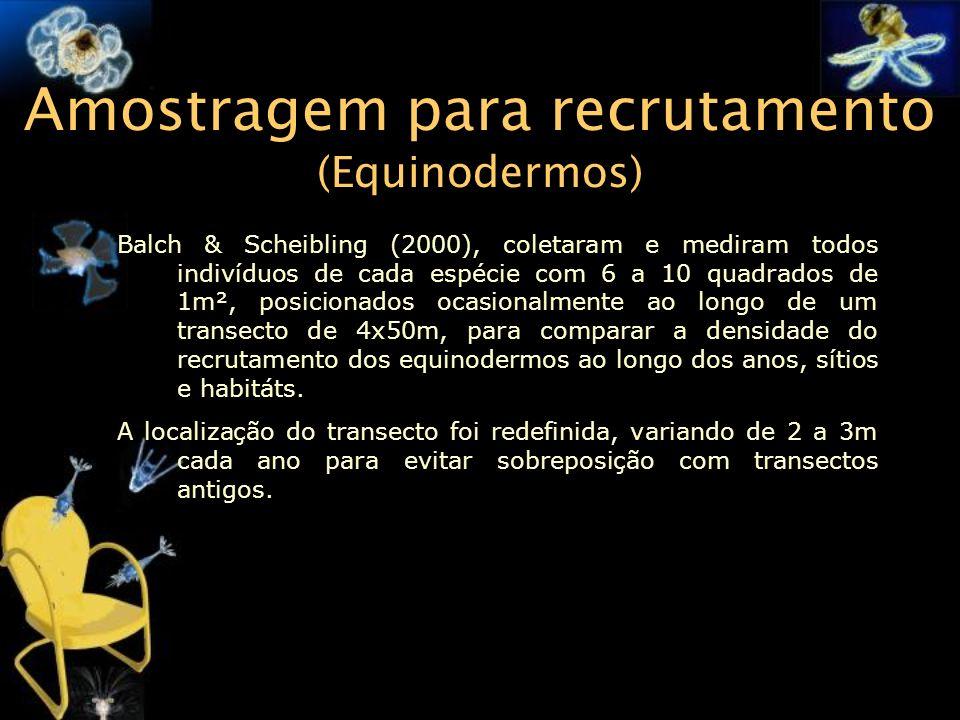 Amostragem para recrutamento (Equinodermos)