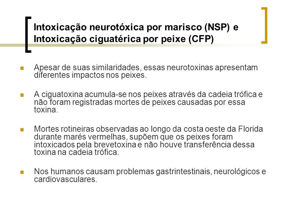 Intoxicação neurotóxica por marisco (NSP) e Intoxicação ciguatérica por peixe (CFP)