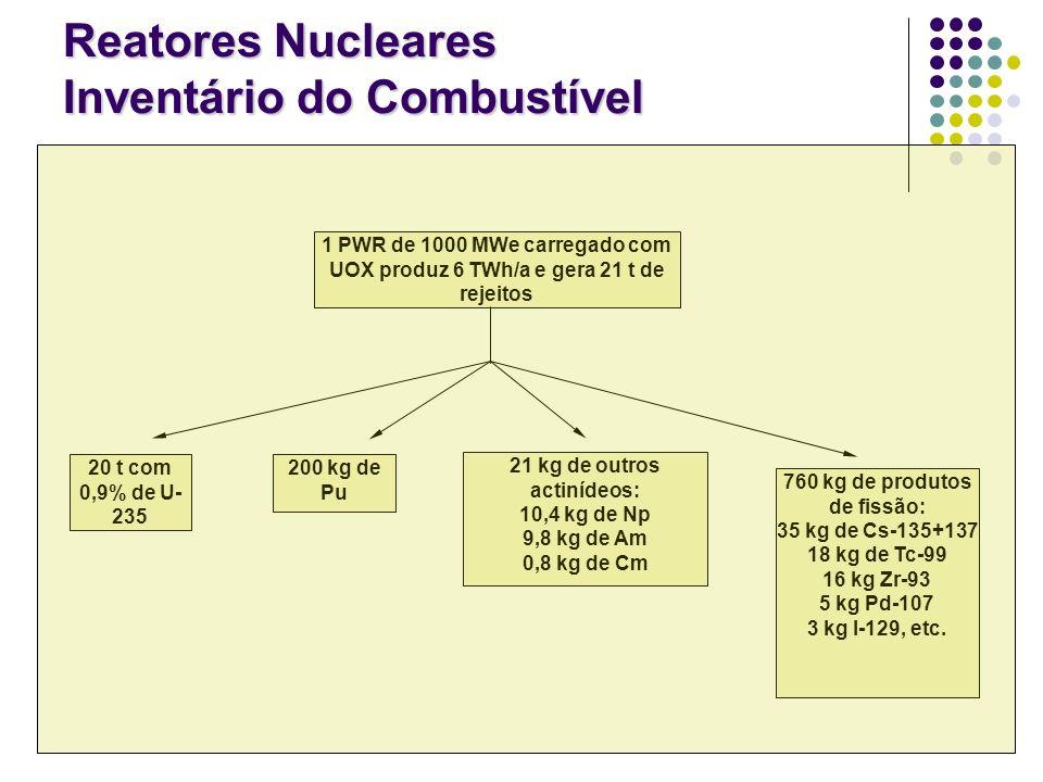Reatores Nucleares Inventário do Combustível
