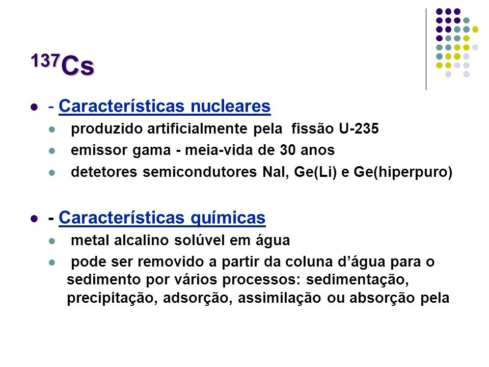 137Cs - Características nucleares - Características químicas