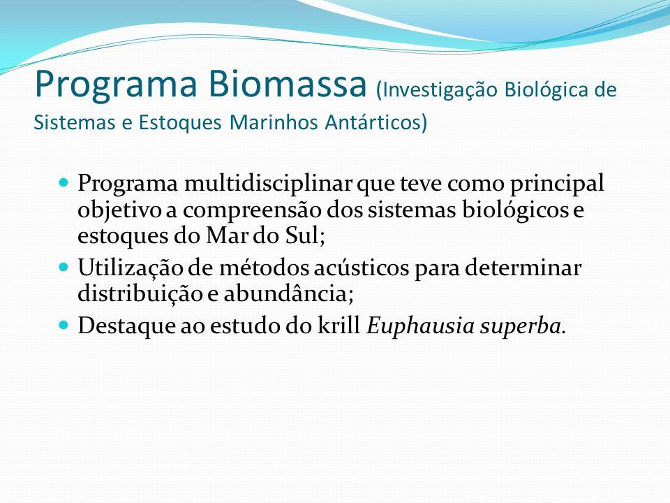 Programa Biomassa (Investigação Biológica de Sistemas e Estoques Marinhos Antárticos)