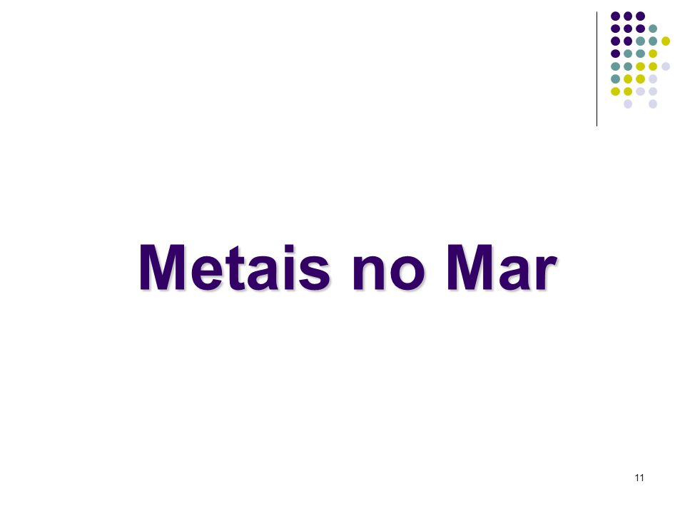 Metais no Mar