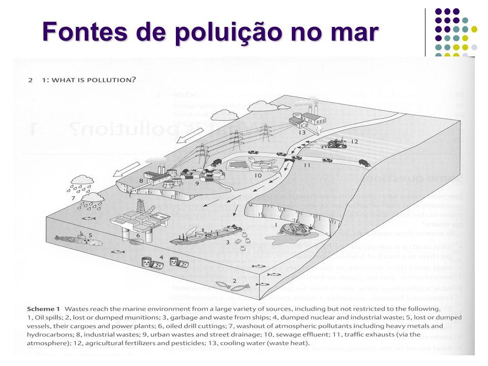 Fontes de poluição no mar