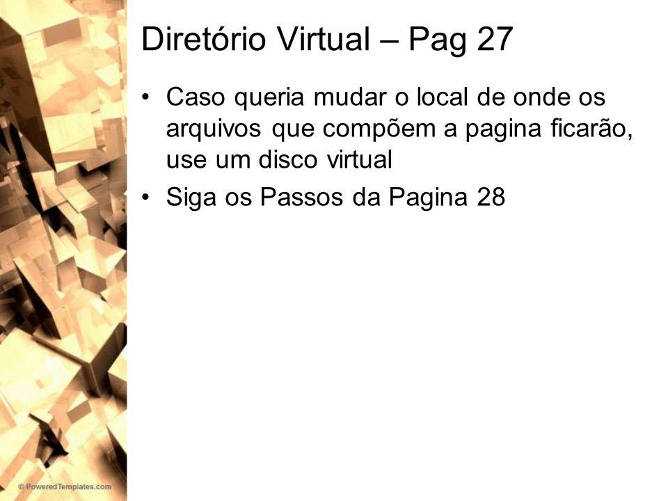 Diretório Virtual – Pag 27
