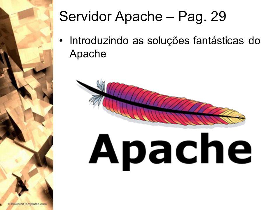 Servidor Apache – Pag. 29 Introduzindo as soluções fantásticas do Apache