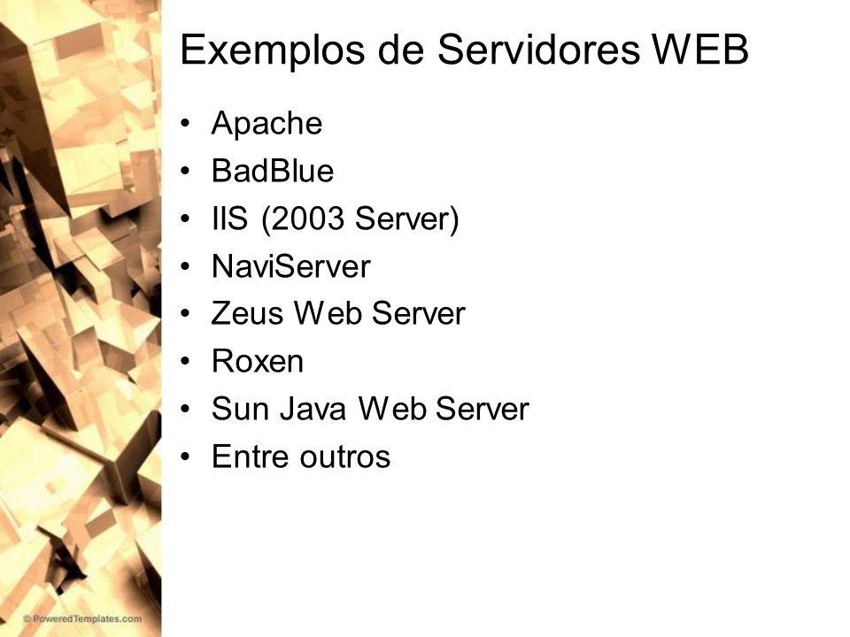 Exemplos de Servidores WEB