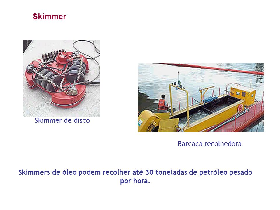 Skimmer Skimmer de disco Barcaça recolhedora