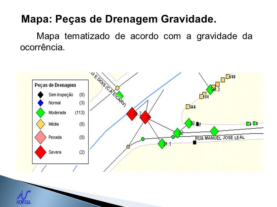 Mapa: Peças de Drenagem Gravidade.