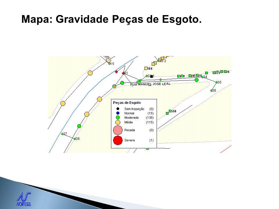 Mapa: Gravidade Peças de Esgoto.