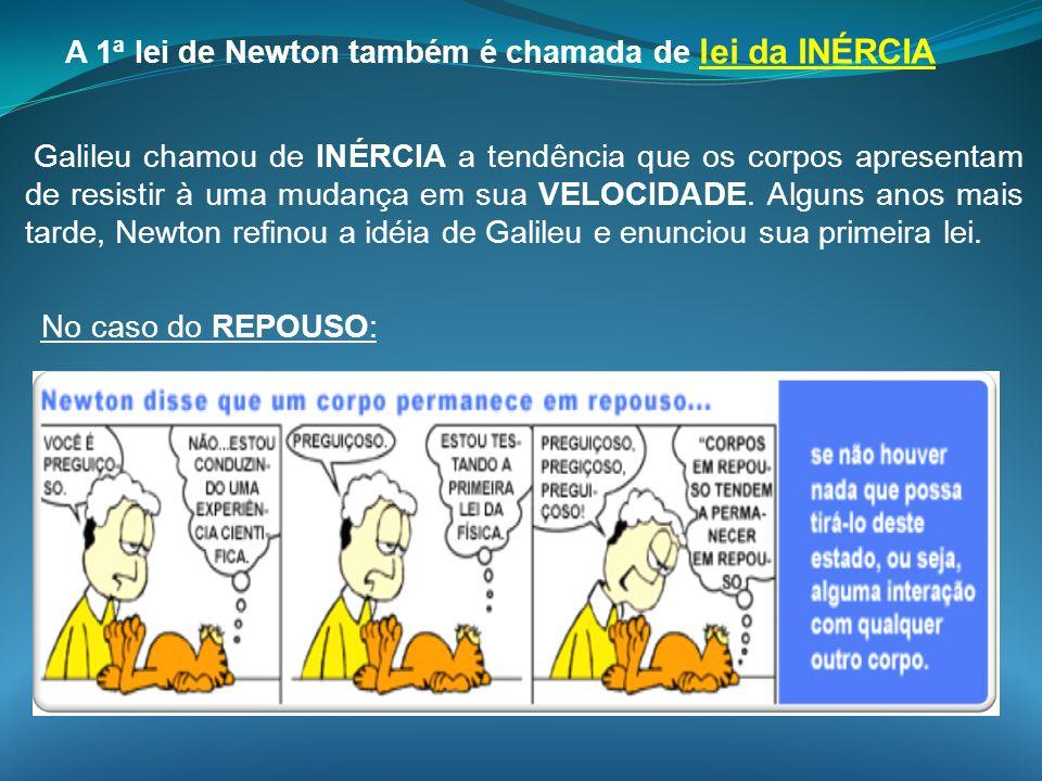 A 1ª lei de Newton também é chamada de lei da INÉRCIA