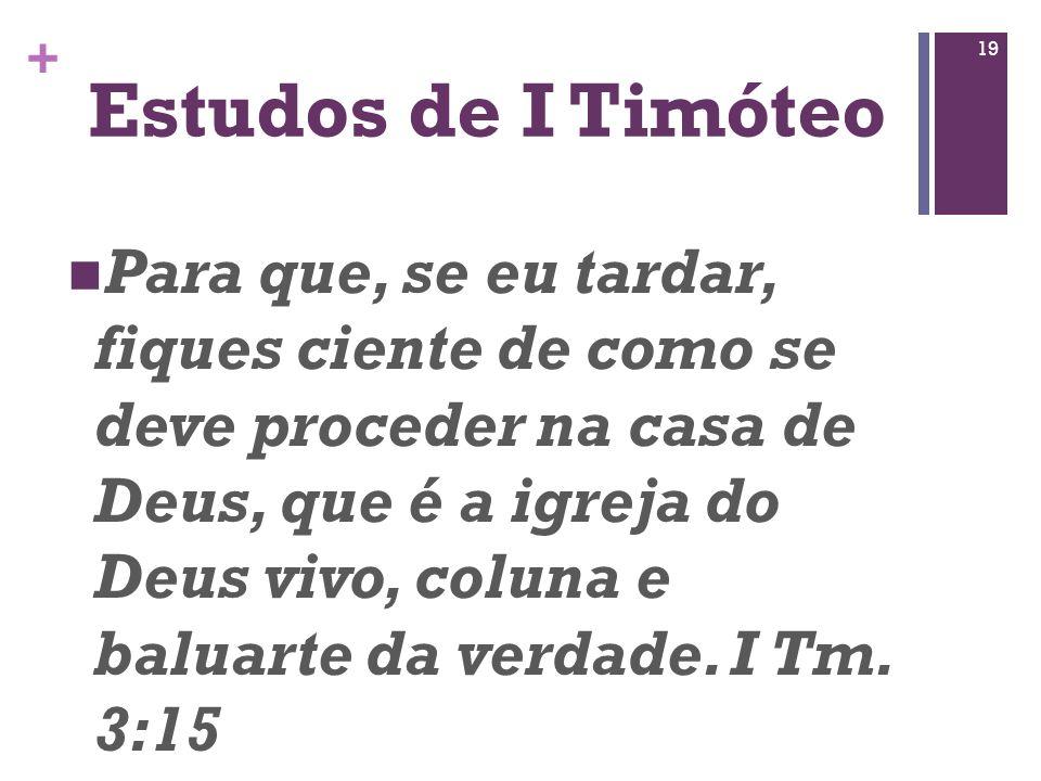 Estudos de I Timóteo