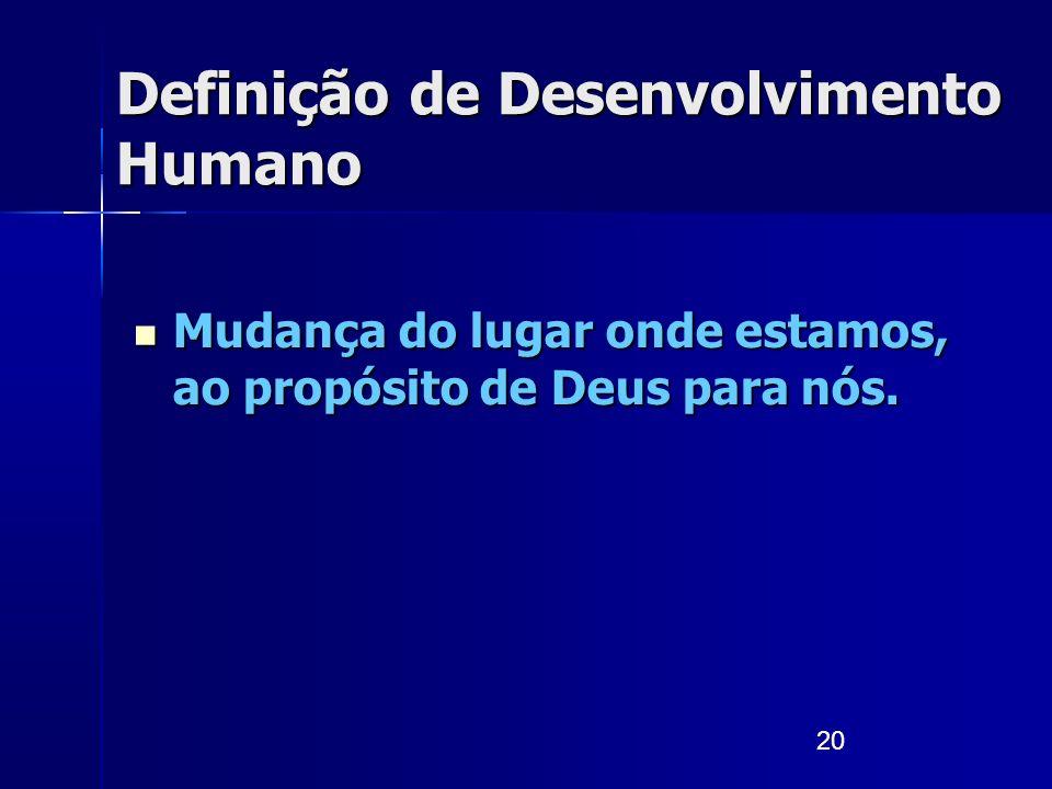 Definição de Desenvolvimento Humano