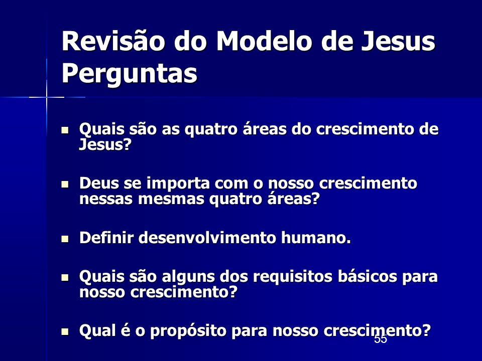 Revisão do Modelo de Jesus Perguntas