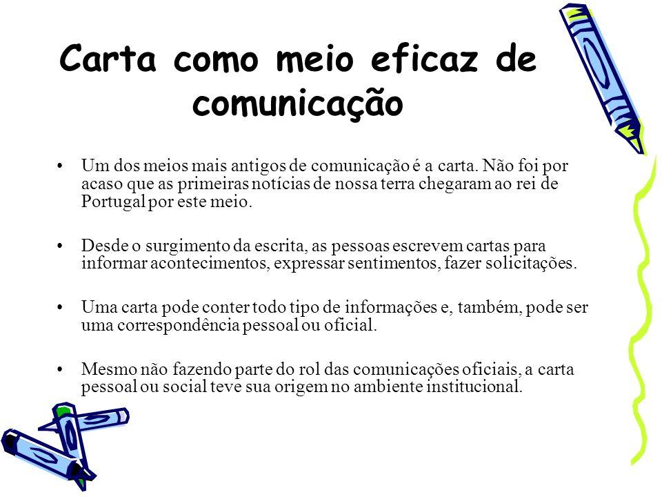 Carta como meio eficaz de comunicação