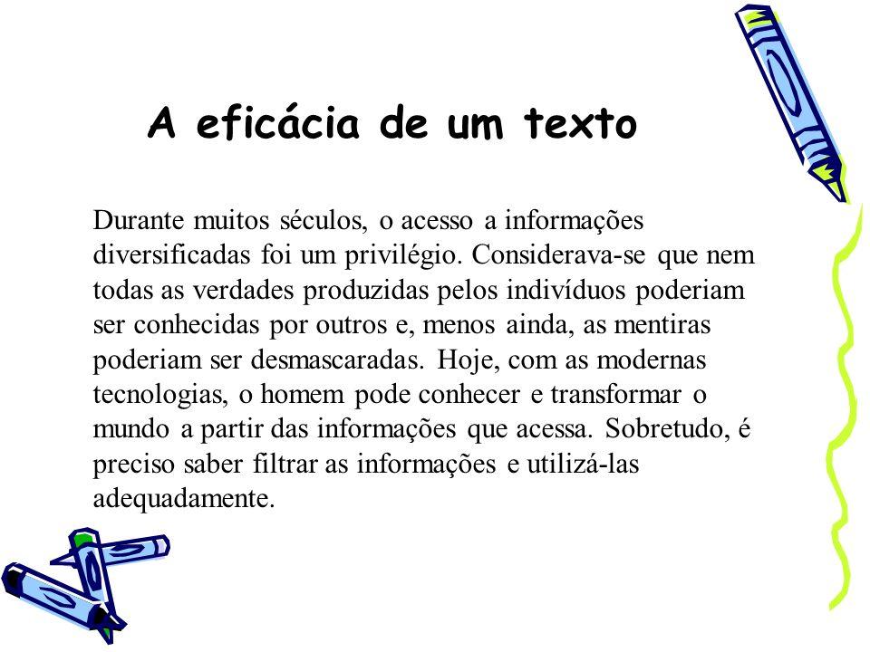A eficácia de um texto